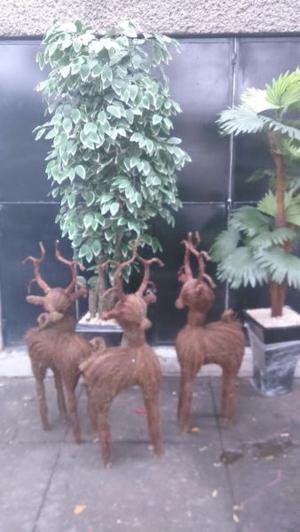 venados navideños rusticos
