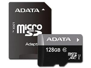 Memoria Microsdxc Uhs-1 Adata De 128 Gb, Clase 10, Incluye