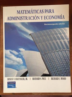 Libro matemáticas para admin y economía