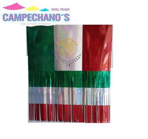 Papel Picado Bandera Metálica Tricolor Fiestas Patrias