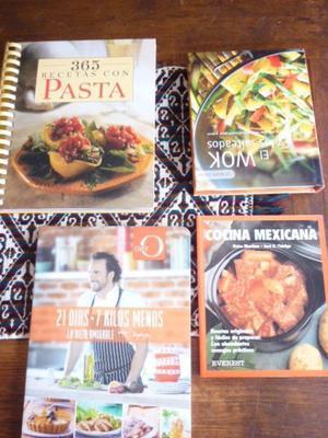 lote de 4 libros de cocina usados