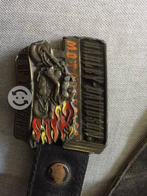 Hebilla y fajo de piel Harley Davidson original