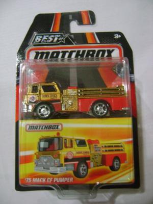 Matchbox 75 Mack cf Pumper Camión de Bomberos