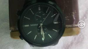 Reloj fossil negro de acero con su caja
