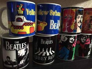 Taza The Beatles Pink Floyd Led Zeppelin Black Sabbath 11onz