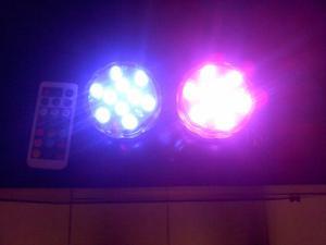 Vendo kit 4 lamparas led RGB sumergible control remoto 13