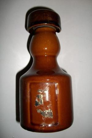 antiguo frasco de loción inicios de