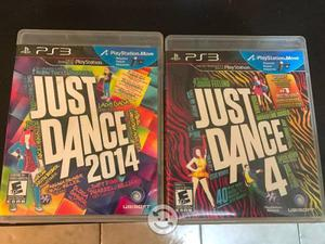 2 Videojuegos JUST DANCE para PS3