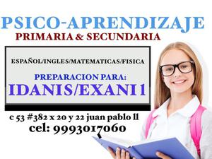 Curso de ingreso a secundaria IDANIS/ISAIS