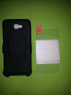 Funda Uso Rudo Samsung J7 Prime + Mica De Cristal Templado