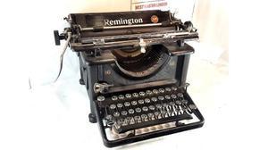 Maquina De Escribir Antigua Remington % Funcional !