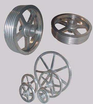 Poleas de aluminio y fierro colado