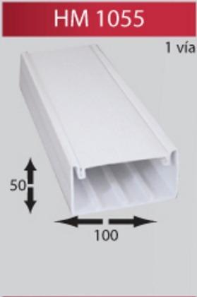 Canaleta Plastica Pvc 100x50x Via