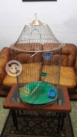 Jaula grande y amplia para Aves con accesorios