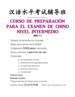 CURSO DE PREPARACIÓN PARA EL EXAMEN INTERMEDIO DE CHINO HSK