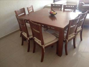 Comedor de 8 sillas mesa cuadrada