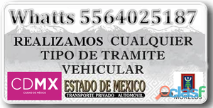 Gestoría y tramites vehiculares urgentes df Morelos edomex