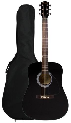 Guitarra Acústica Fender Fa-100 Con Estuche Color Negro