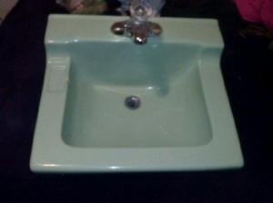 Lavamanos verde pistache 300 pesos