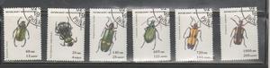 No.73-madagascar Serie Usada De 6 Timbres Tema Insectos