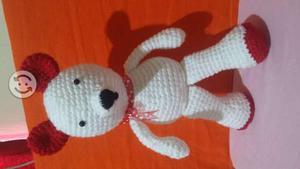 Osos san Valentin (muñecos de hilo, crochet)