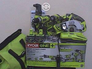 Ryobi 18-Volt Lithium-Ion Ultimate Combo Kit 6 Pcs