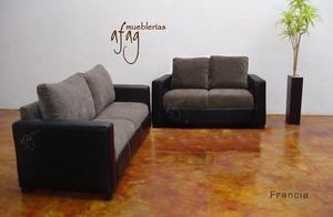 Sala Francia 3,2,1 moderna color negro con gris claro