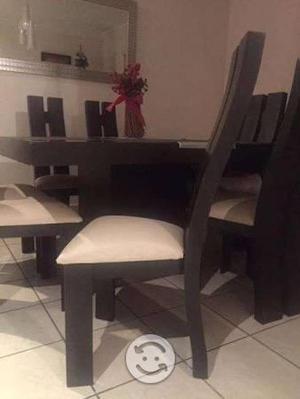Comedor avanti 8 sillas color chocolate posot class for Comedor 8 sillas usado