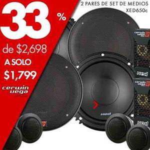 Paquete 2 Set De Medios Cerwin Vega Xed650c De 6.5 Pulg 350w