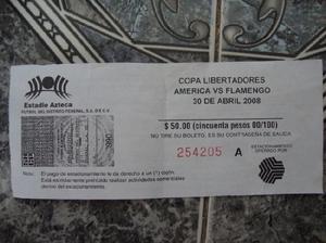 Boleto America vs Flamengo Copa Libertadores