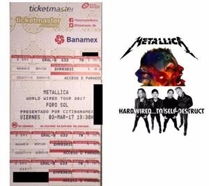 Boletos Metallica CDMX