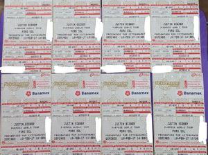 Boletos para Justin Bieber al costo