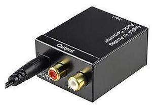 Convertidor Audio Digital Toslink A Rca Análogo L/R Coaxial