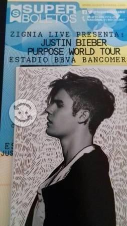 Tres boletos para ver a Justin Bieber