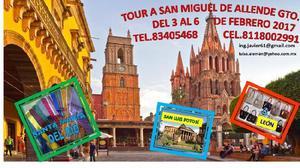 VIAJE A SAN MIGUEL DE ALLENDE,SAN LUIS,LEÓN Y STA. MARÍA