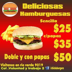 Hamburguesas y Burritos