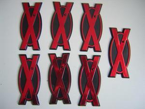 Lote de 7 bases para figuras de acción de X-Men
