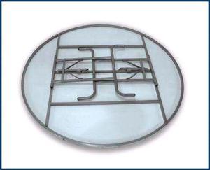 Sillas plegables y mesas de fibra de vidrio