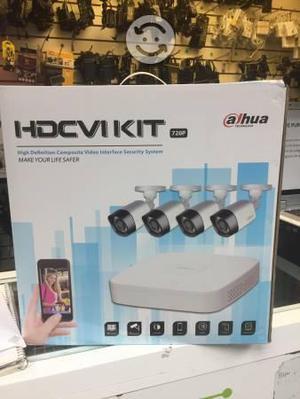 Kit de video vigilancia para casa o negocio hd