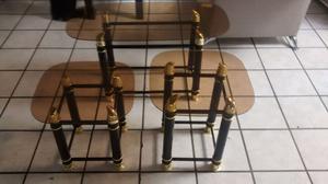 Remato juego de tres hermosas mesas para sala$ juego