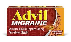 Advil Migraine Migraña 200 Mg 80 Caps Gel Tamaño Jumbo
