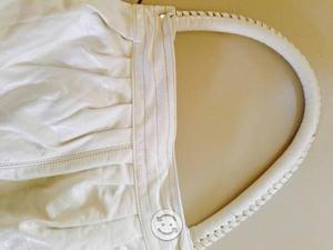 Bolsa blanca grande de plastico muy elegante 150.0