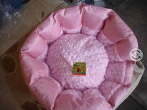 Cama Rosa para mascota de dos vistas