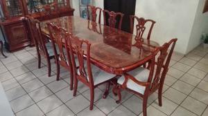 Muebles de cedro y caoba comedor vitrina sala posot class for Muebles para restaurantes usados