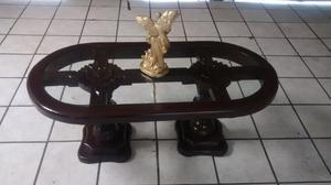 Remato hermosa mesa de centro de pura madera solida $