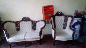 Sala estilo luis xv blanca 2 sillones