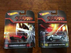 2 Hot Wheels Need For Speed Retro Mustang Y Koenigsegg Agera