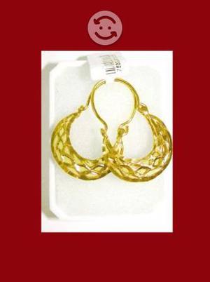 Arracadas de canasta oro lam 18k nuevas