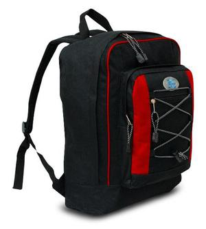 Backpack Mc. Carthy Mod. Bpor-236 Negro/rojo