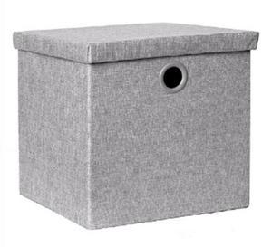 Caja Organizadora Klau Gris Grande (con Tapa)